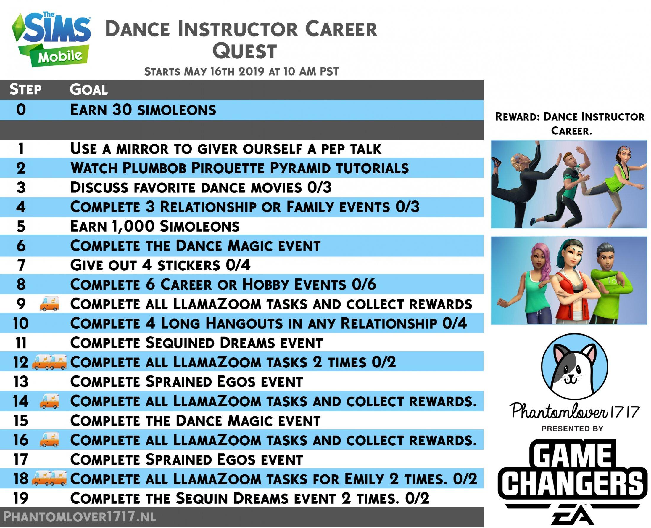 Dance Instructor Career