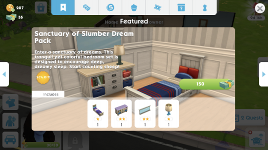 Sanctuary of Slumber Dream Pack